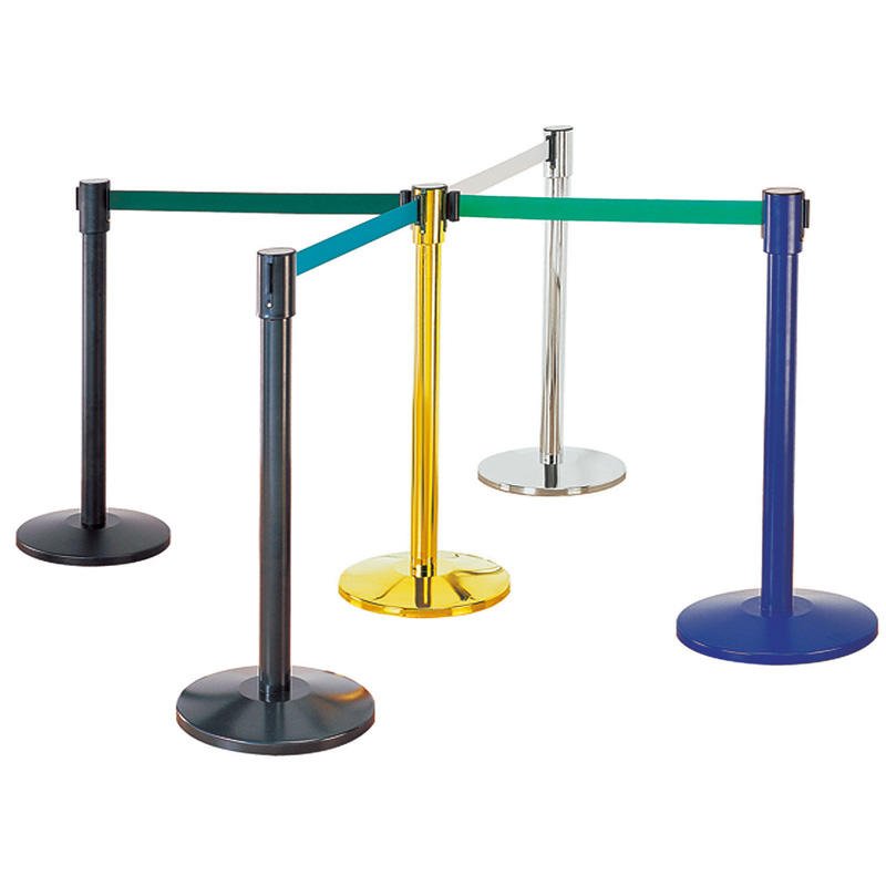 Hotel bank rope stanchion crowd control barrier queue pole