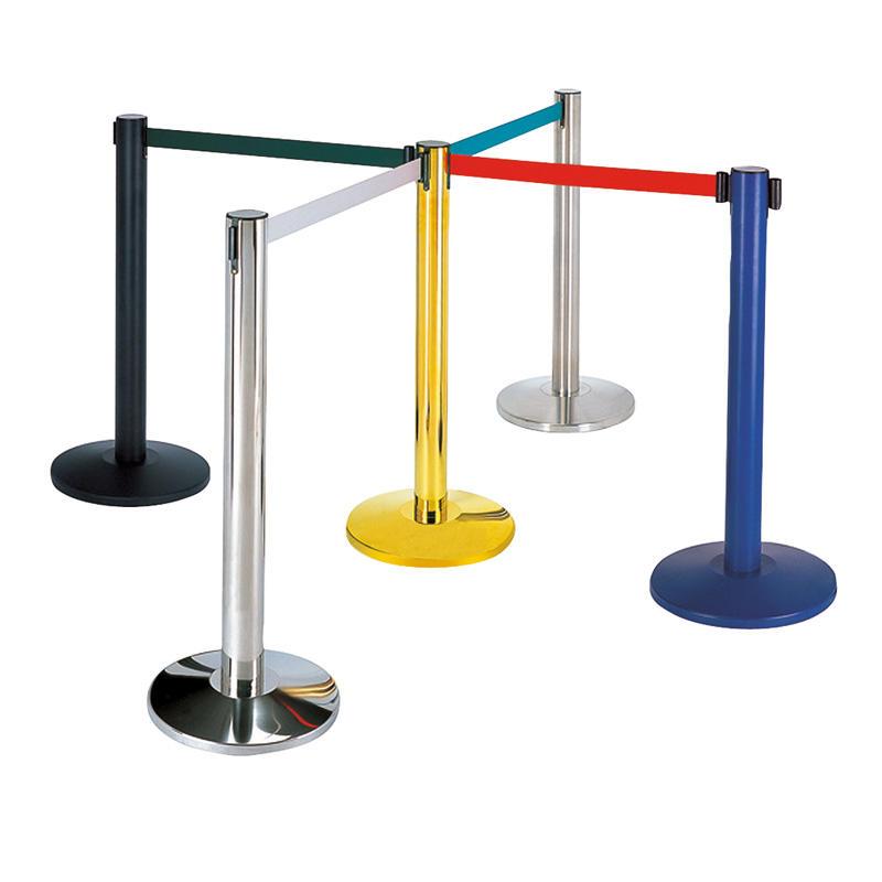 Hotel  retractable crowd belt barrier rope stanchion queue pole