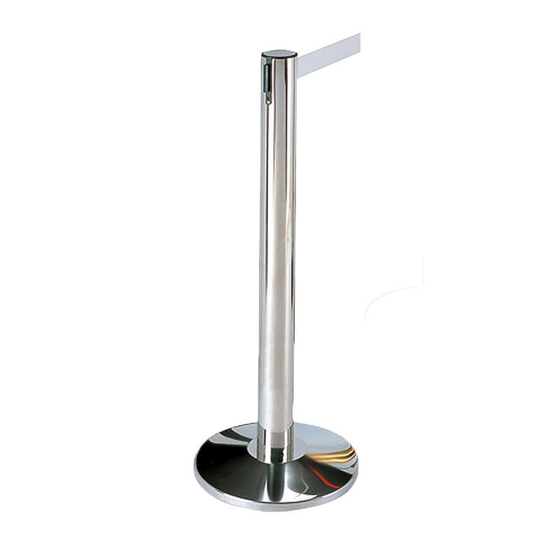 Hotel  retractable crowd belt barrier rope stanchion queue pole