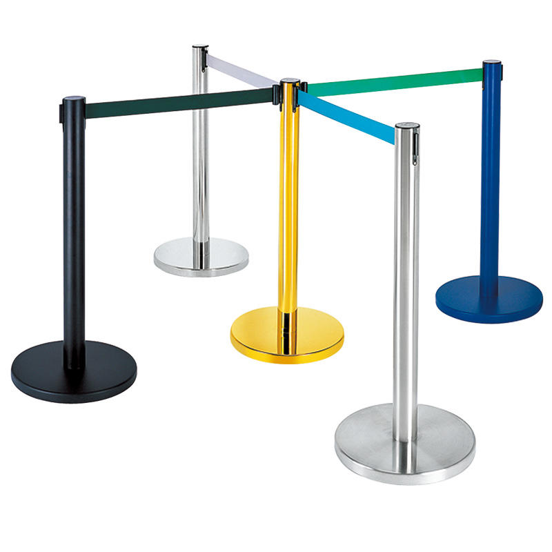 Hotel rope stanchion control barrier queue pole stand