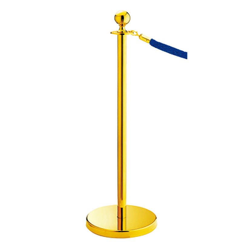 Hotel ball top crowd belt barrier queue stanchion pole