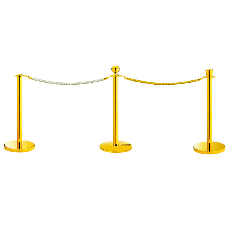 Hotel metal barrier stanchion queue pole