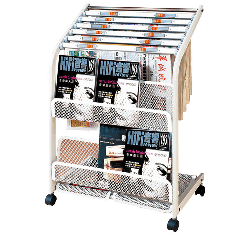 Hotel iron newspaper rack magazine display