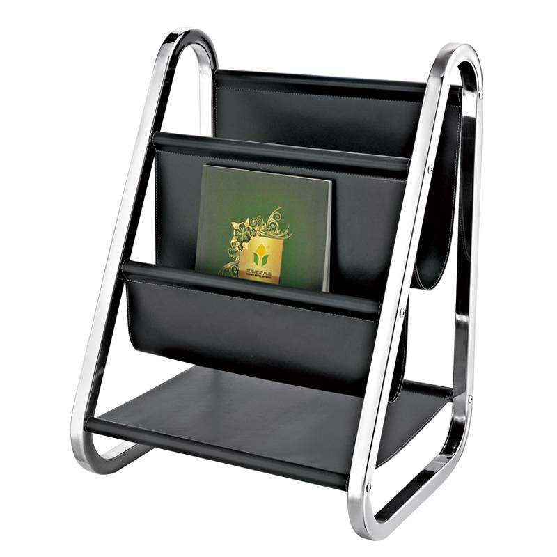Modern design black magazine display rack