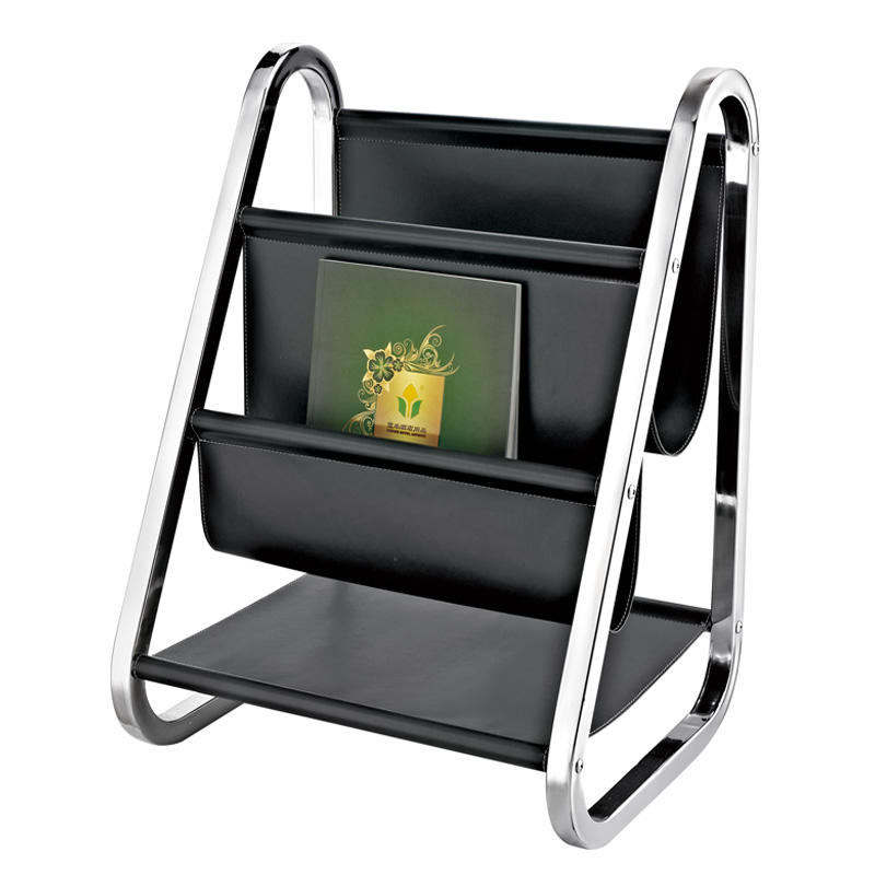 Modern design black magazine display rack