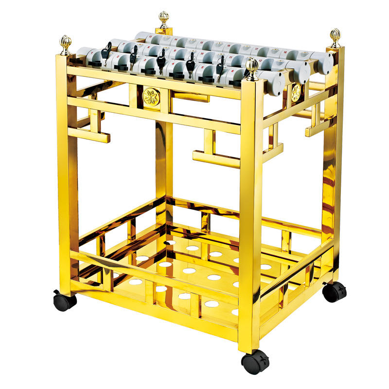 Golden titanium umbrella display rack