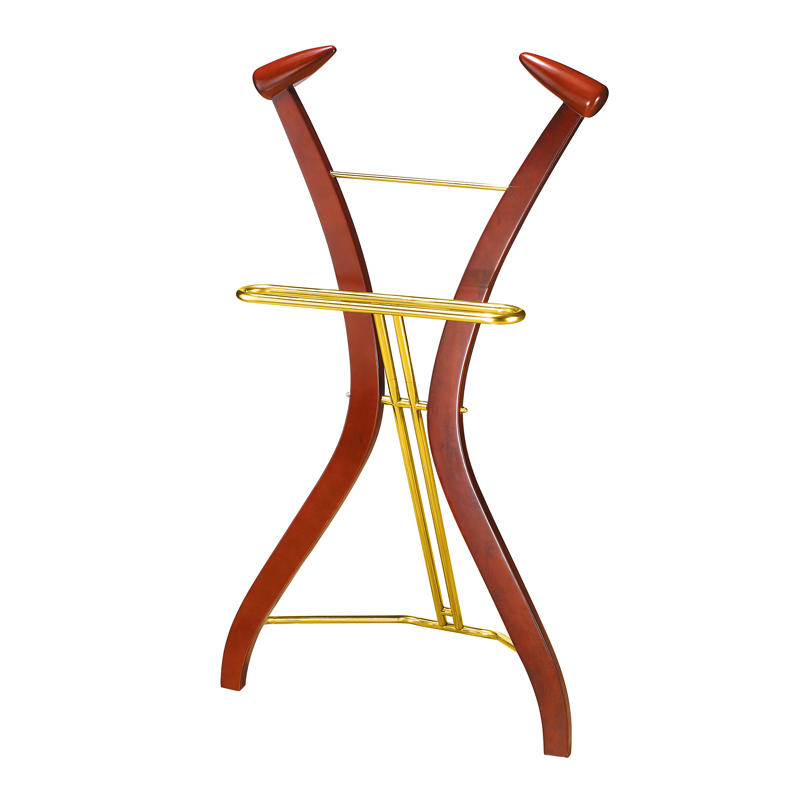 Hotel standing wooden coat tree clothes tree coat rack
