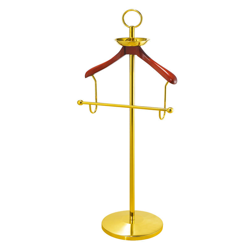 Hospitality supplies room vertical antique wooden clothes tree coat stand hanger