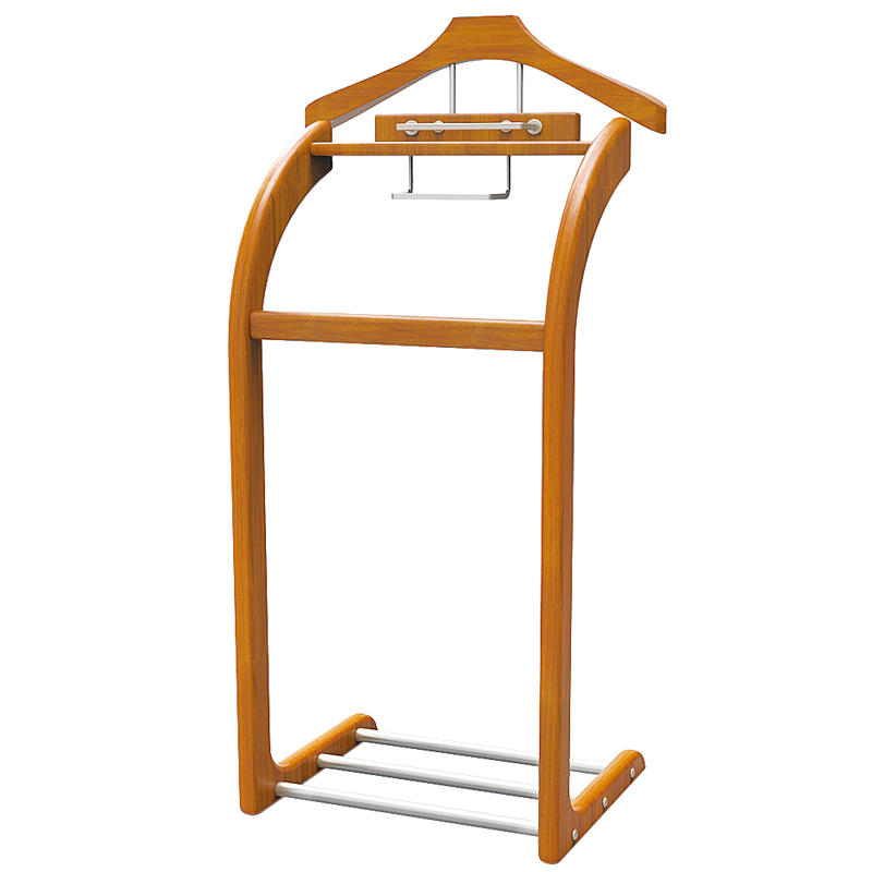 High quality wood standing hotel clothes trees coat racks