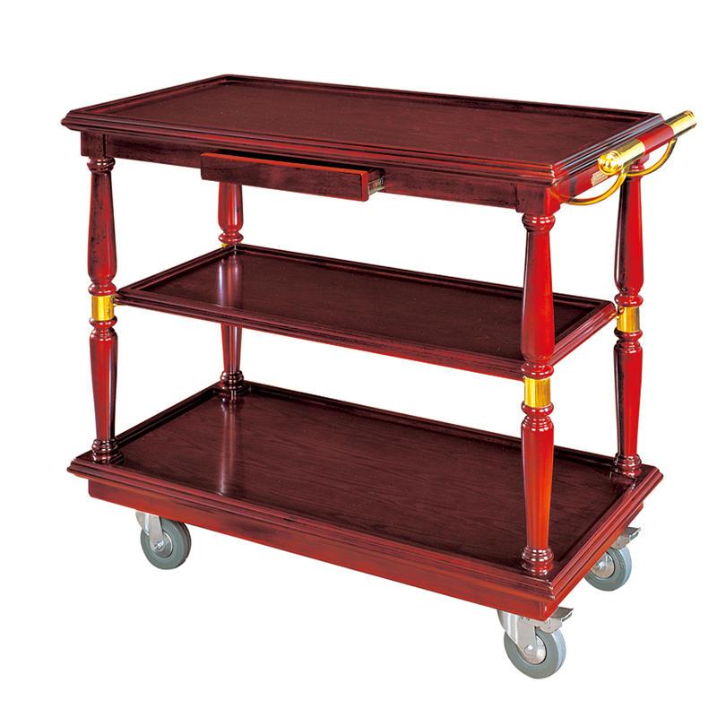 Hotel wooden dinner cart trolley wine trolley