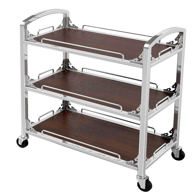 Hotel 3 tier trolley dinner cart trolley liquor trolley