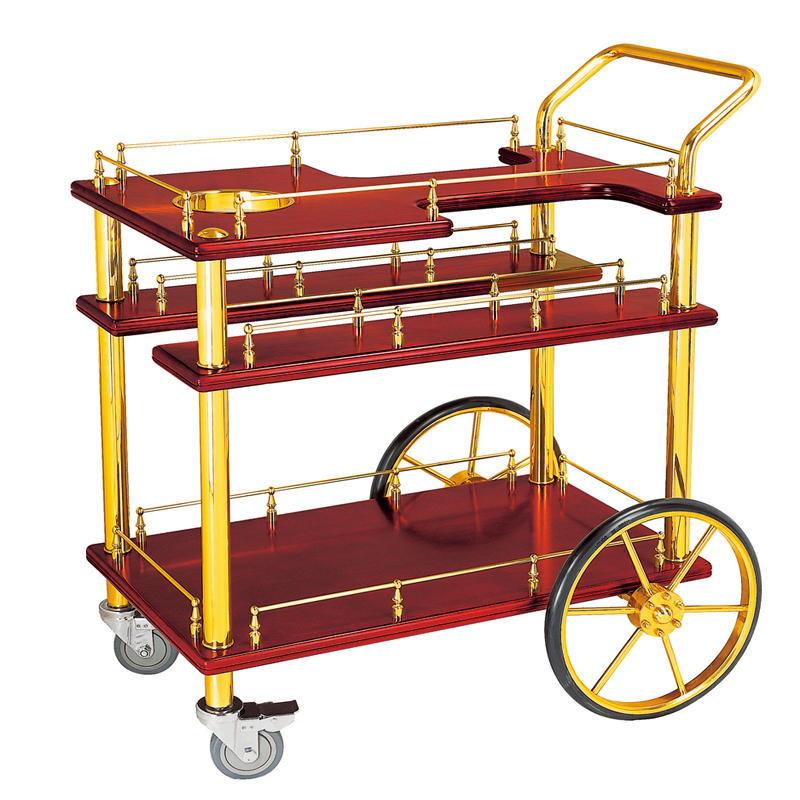 American style 3-tier hotel wine trolley liquor trolley cart