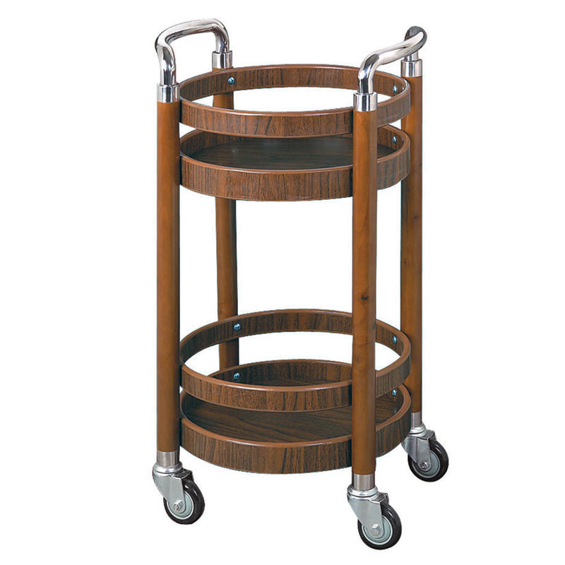 Four wheels round wine cart food trolley liquor trolley