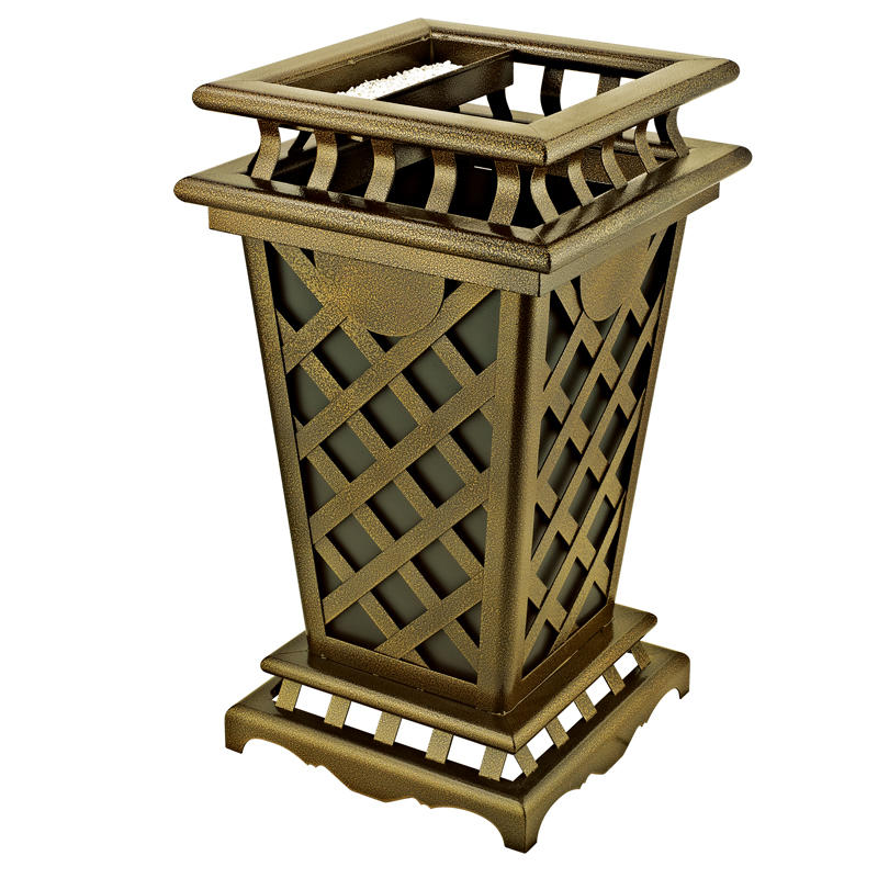 Outdoor square garbage bin waste bin trash bin