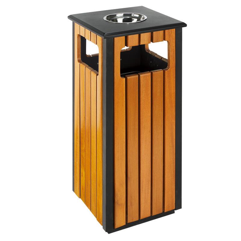 Outdoor street iron waste bin trash bin