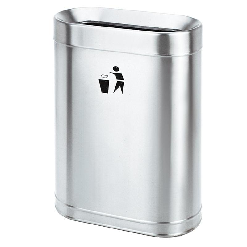 Open top recycling waste bin garbage trash bin dustbin