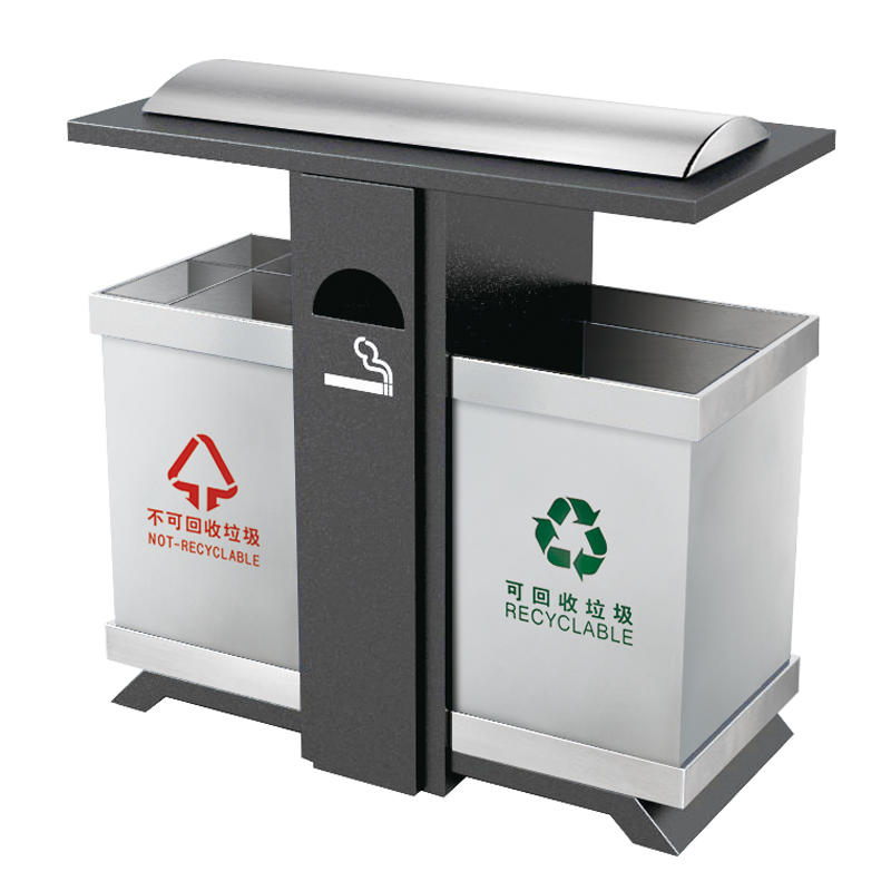 Wholesale outside metal recycling rubbish bin waste bin trash bin