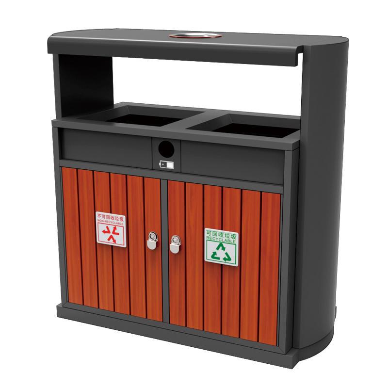 Outdoor park WPC recycling garbage bin waste bin trash bin