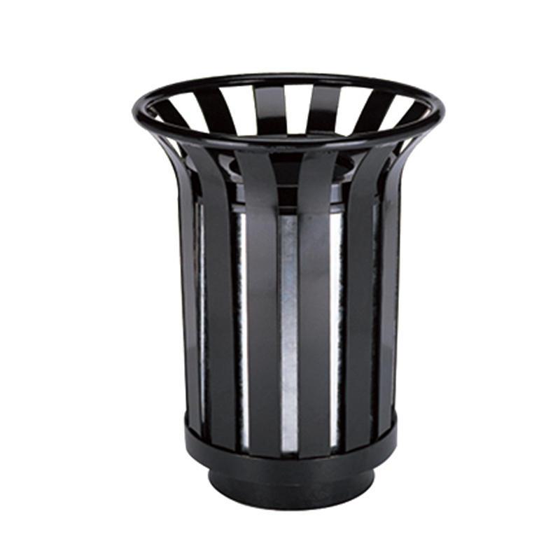 Outdoor iron round outdoor garbage bin waste bin