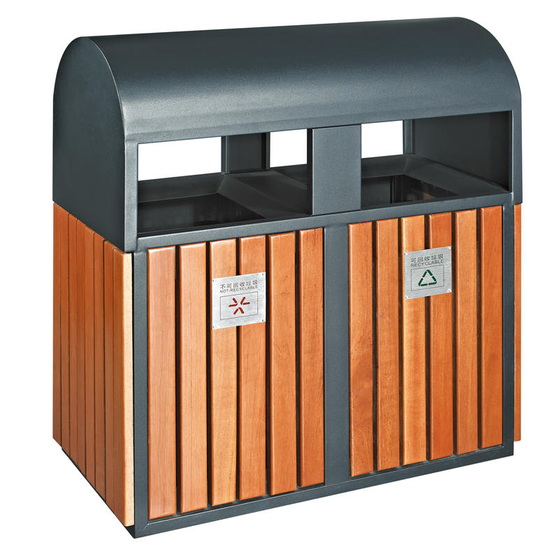 Outdoor street recycling garbage bin waste bin trash bin