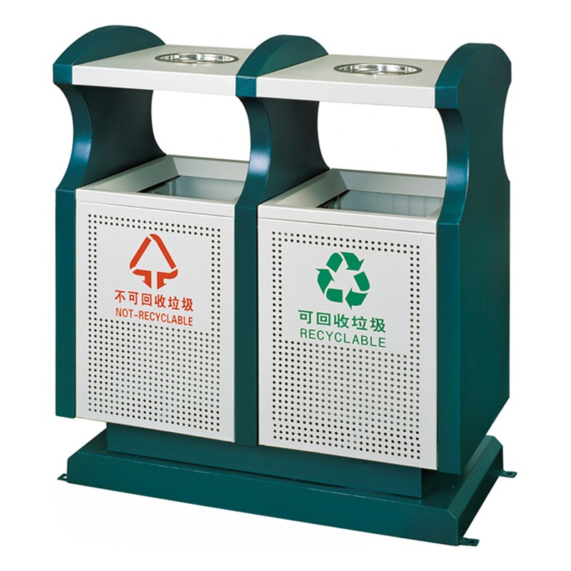 Fenghe double outdoor trash can manufacturer for hotel-6