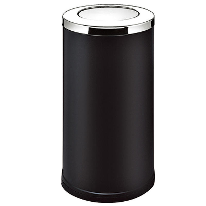 Stainless steel standing round swing lip waste bin flip dustbin