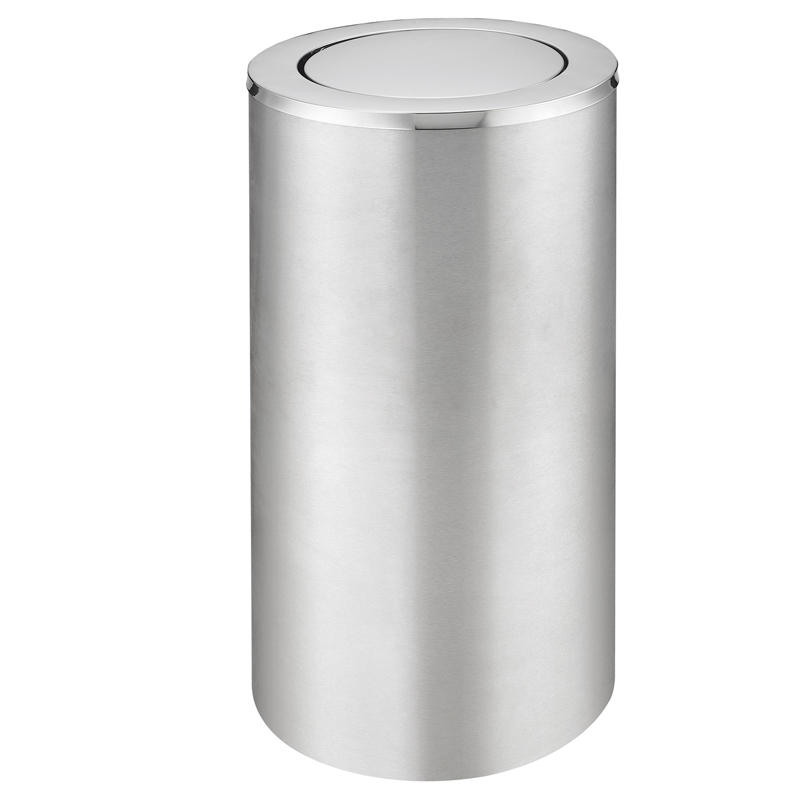 Stainless steel standing round ground ash barrel waste bin dustbin