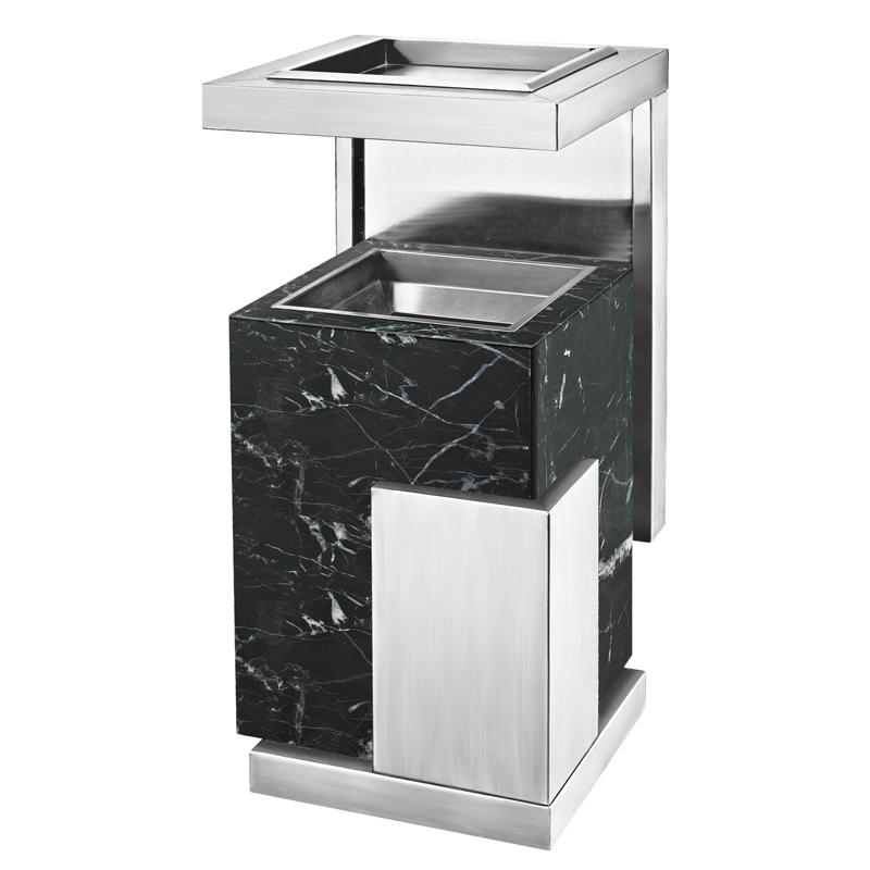 Hotel metal lobby ground ash barrel waste bin trash bin