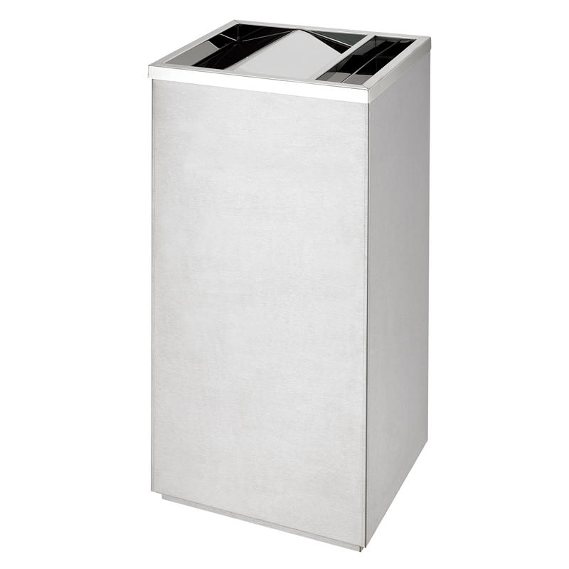 Hotel lobby metal square ground ash barrel garbage bin trash can