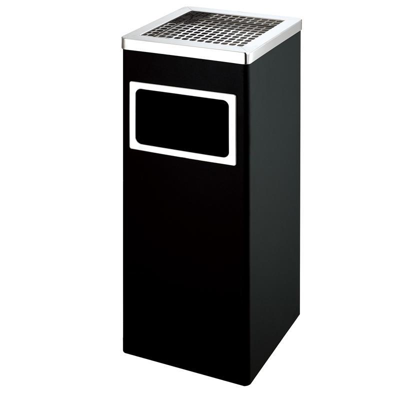 New design outdoor metal rubbish standing ashtray bin trash bin