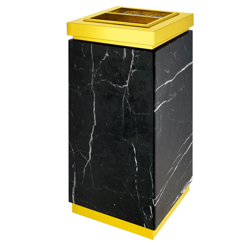Hotel square standing marble trash ashtray bin rubbish bin waste bin