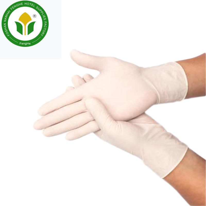 Disposable medical powder latex glove