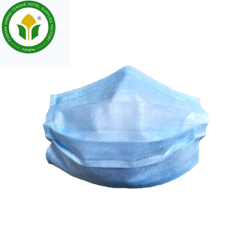 Cheap price blue 3 ply disposable non-woven face mask