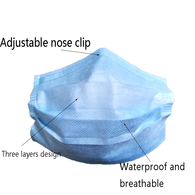 product-Fenghe-Cheap price blue 3 ply disposable non-woven face mask-img