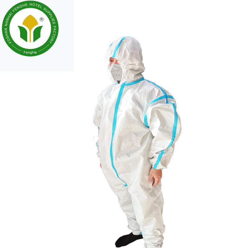 Disposable non-woven fabric protective suit protective clothing