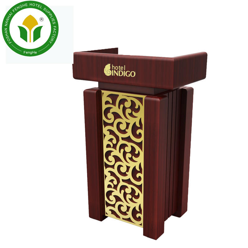 Wooden rostrum for Hotel