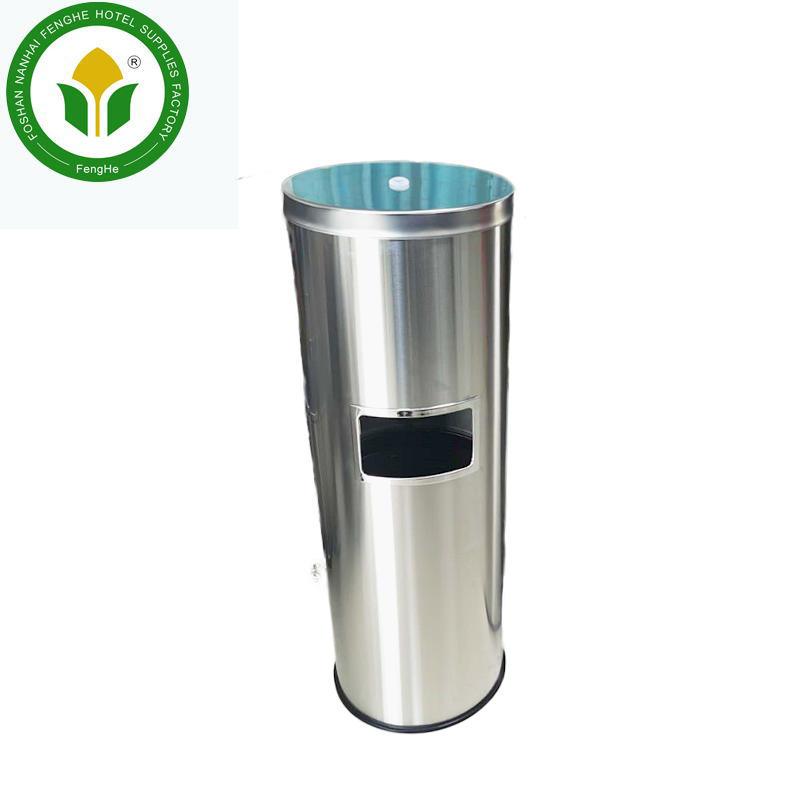 Hot selling metal floor standing wipe dispenser with trash bin