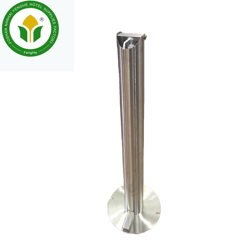 Stainless steel standing foot pedal hand sanitizer dispenser