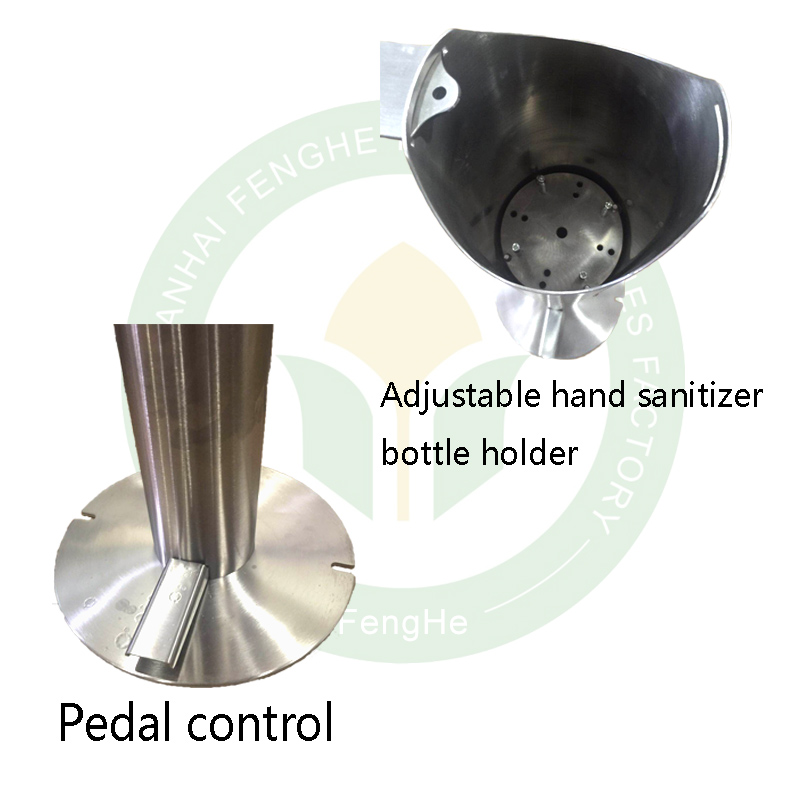 product-Stainless steel standing foot pedal hand sanitizer dispenser-Fenghe-img