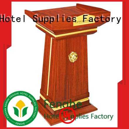 Fenghe Fenghe wooden lectern factory for bankquet halls