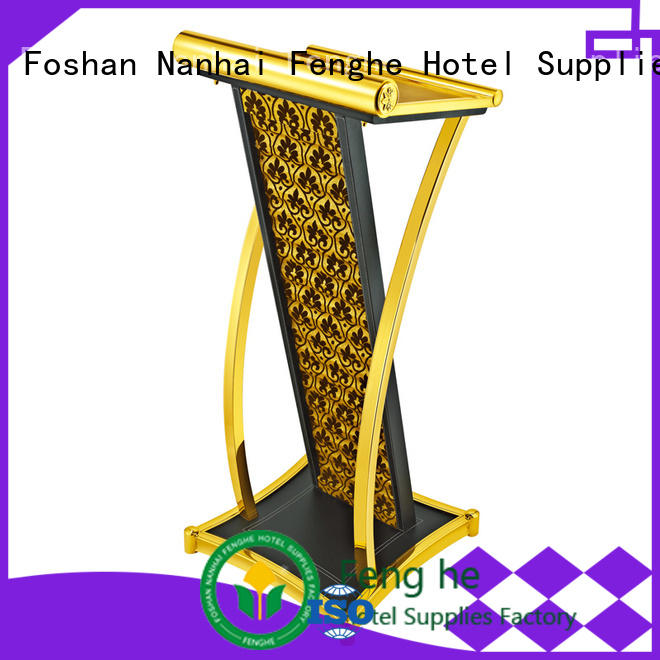 Fenghe low moq wooden lectern manufacturer for hotel industry