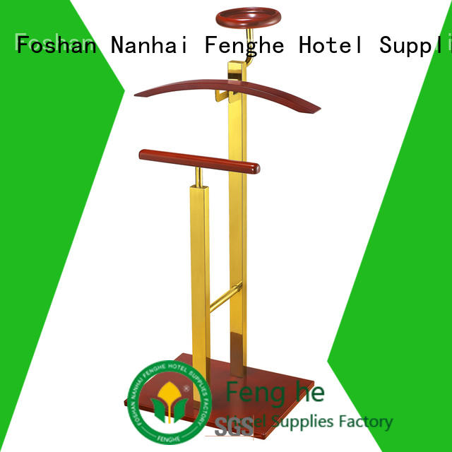 Fenghe low moq clothes hanger stand for lecture halls