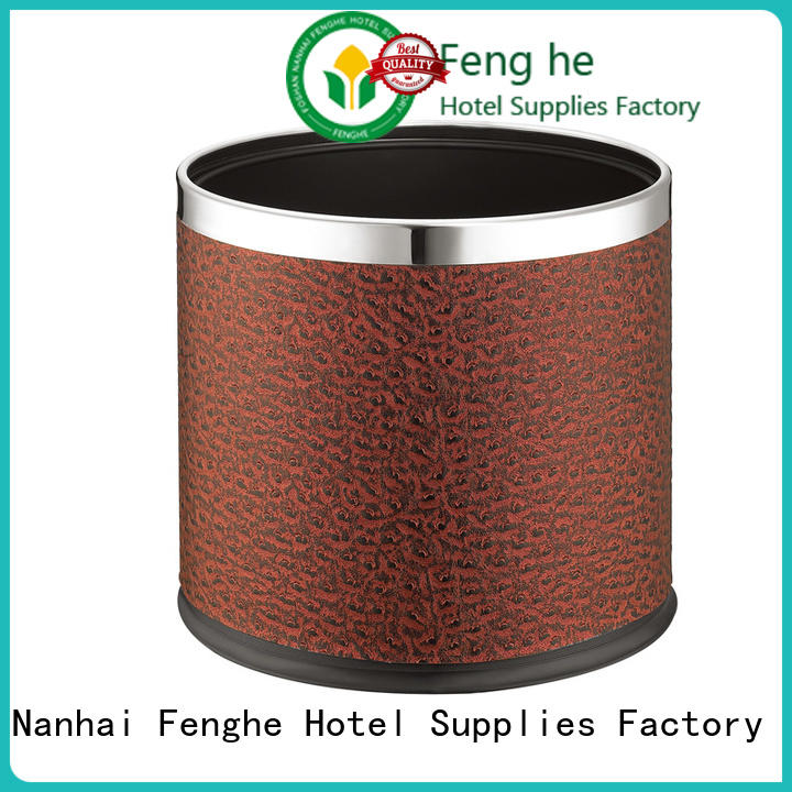 Fenghe styles hotel trash bin quick transaction for guest rooms