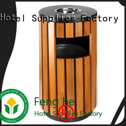 Fenghe stainless outdoor garbage can storage chinese manufacturer for lobby