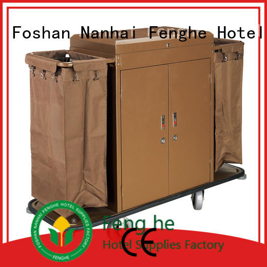 Fenghe professional hotel housekeeping trolley trader for hotel