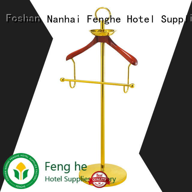 Fenghe low moq coat hanger stand manufacturer for conferences