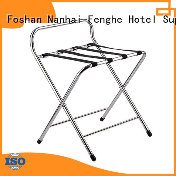Fenghe folding hotel room luggage stand wholesaler trader for hotel