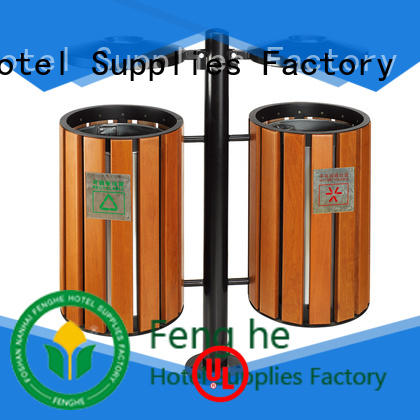Fenghe stainless outdoor garbage bins factory for lobby