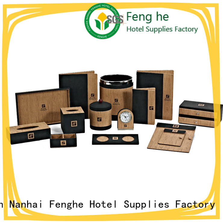 Fenghe red amenity tray trader for hotel