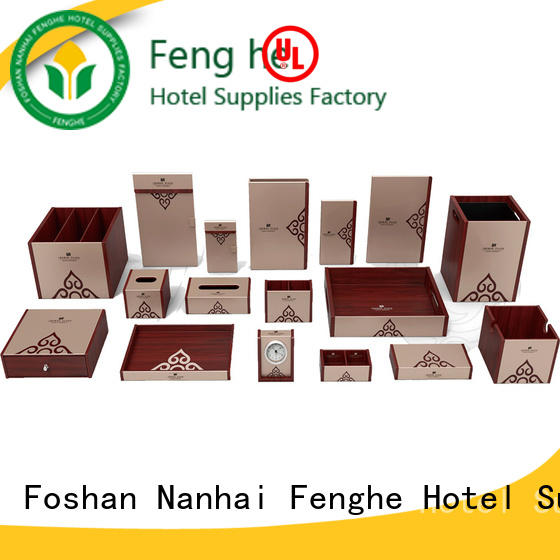 Fenghe new black faux leather bin hospitality for wholesale